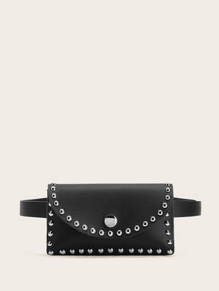 Shein Studded Detail Flap Fanny Pack