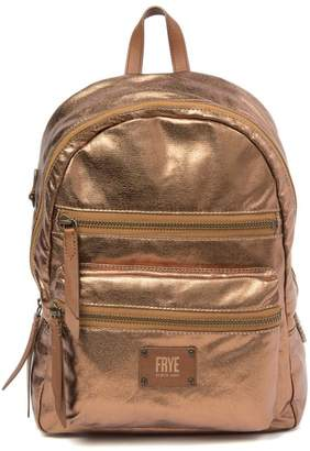 Frye Ivy Metallic Leather Trimmed Backpack
