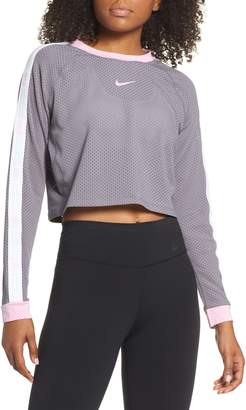 Nike Run Hyper Femme Crop Mesh Running Top