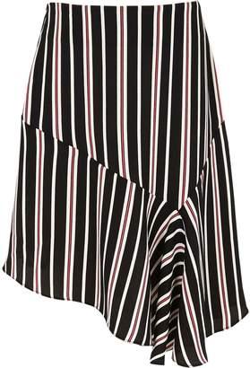 River Island Girls Black stripe print asymmetric skirt