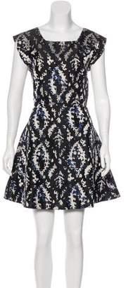 Theyskens' Theory Silk Jacquard Dress