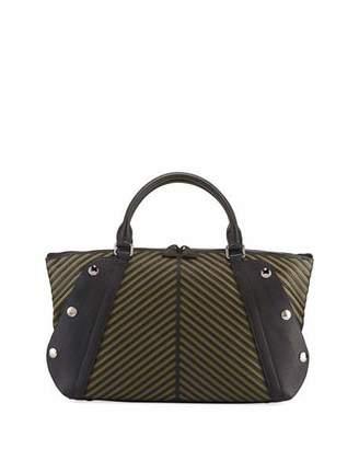 Akris Aimee Small Herringbone Satchel Bag