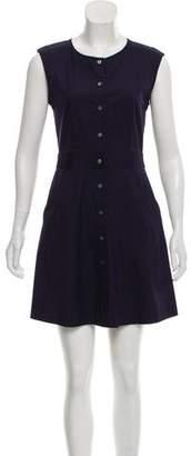 Theory Button-Up Sleeveless Dress