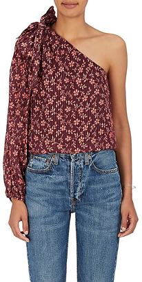 Ulla Johnson Women's Enid Floral Cotton-Silk Blouse $320 thestylecure.com