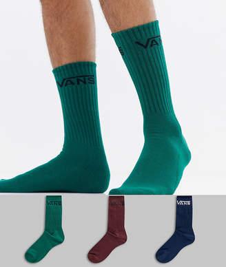 Vans 3 pack socks in multi VN000XSEWUP1