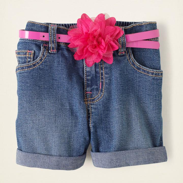 Children's Place Cuffed denim shorts