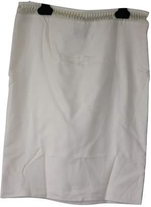 Gianni Versace White Silk Skirt for Women Vintage