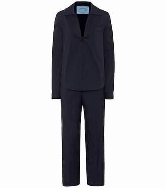 Prada Cotton-blend shirt and trouser set