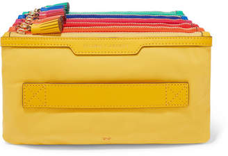 cf7ea750a8 Anya Hindmarch Filing Cabinet Leather-trimmed Shell Pouch - Yellow