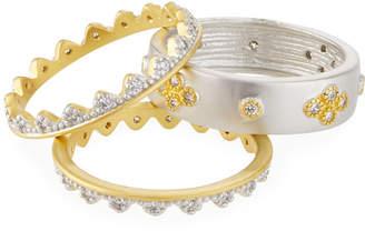 Freida Rothman Visionary Fusion Crown 3-Piece Stacking Ring Set, Size 8