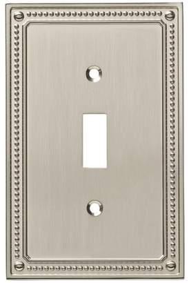 Franklin Brass Classic Beaded Single Switch Wall Plate