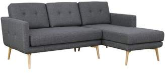 Seal Grey Stream Modern 3 Seater Sofa with Chaise Chaise Side: Right