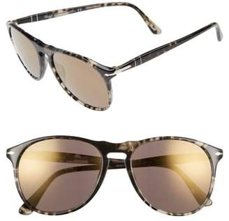 Persol Pilot 55mm Mirrored Sunglasses