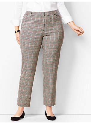 Talbots Plus Size High-Waist Tailored Ankle Pants - Cottage Plaid