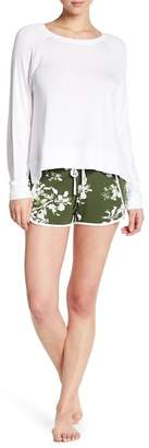Shimera Long Sleeve Print Shorts 2-Piece Pajama Set