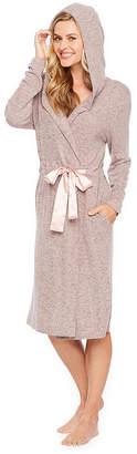 COEUR DALENE Coeur Dalene Weekend Fleece Womens Knit Robe Long Sleeve Long Length