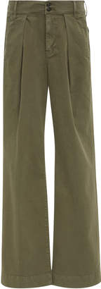 Frame Wide-Leg Chino Trousers