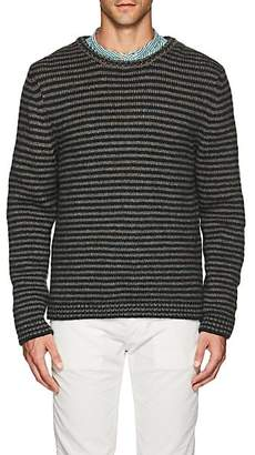 Massimo Alba Men's Striped Alpaca-Blend Crewneck Sweater - Gray