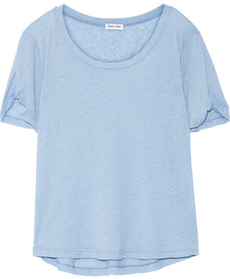 Splendid - Stretch-jersey T-shirt - Light blue $95 thestylecure.com
