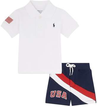 Polo Ralph Lauren American Flag Polo Shirt and Shorts Set