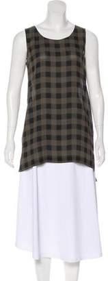 Eileen Fisher Silk Gingham Tunic w/ Tags