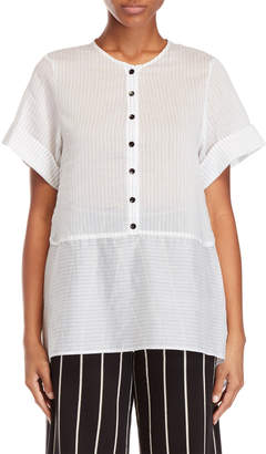 Alysi White Pinstripe Tunic Top