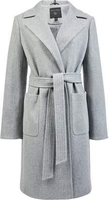 Dorothy Perkins Womens Grey Patch Pocket Wrap Coat