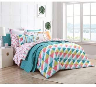 Clairebella Tropical 2/3 Piece Reversible Comforter Bedding Set, Shams Included