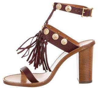 Valentino Embellished Ankle Strap Sandals w/ Tags