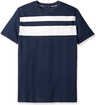 Nautica Men's Short Sleeve Color Block Crew Neck Shirt