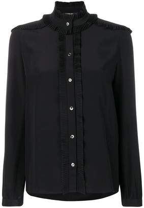 Vanessa Seward frilled band collar shirt
