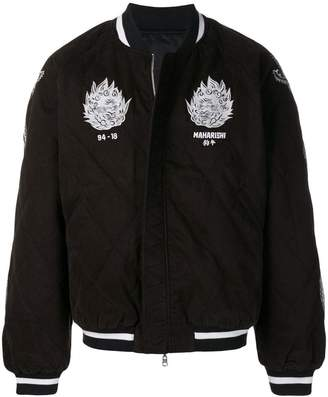 MHI logo quilted bomber jacket
