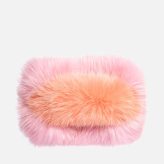 Charlotte Simone Women's Candy Clutch Bag - Pastel Pink/Apricot