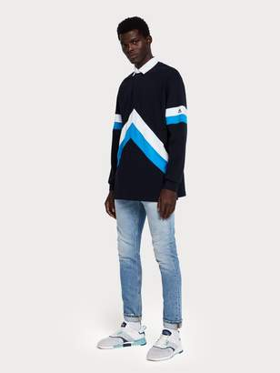 Scotch & Soda Oversized Color Block Polo