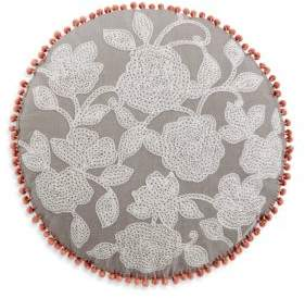 Sky Round Flower Decorative Pillow, 20 x 20 - 100% Exclusive