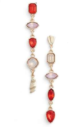 Halogen Mix Shape Stone Drop Earrings