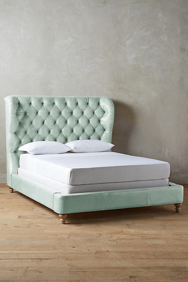 Anthropologie Anthropologie Premium Leather Tufted Wingback Bed