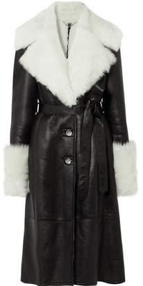 Magda Butrym Hudson Shearling Coat - Black