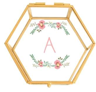 Cathy's Concepts Floral Monogram Keepsake Box