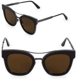 Bottega Veneta 50MM Etched Square Sunglasses