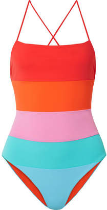 Mara Hoffman Olympia Color-block Swimsuit - Blue