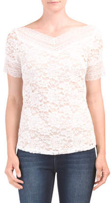 Short Sleeve Lace Date Night Top
