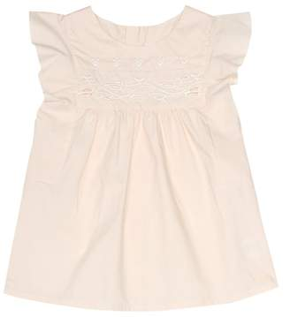 Chloé Kids Broderie anglaise cotton top