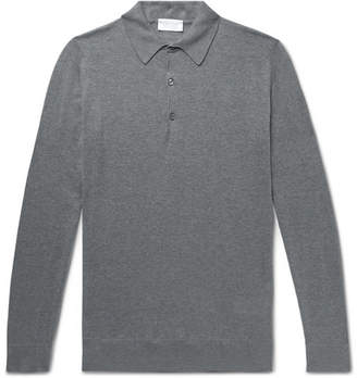 John Smedley Lanlay Slim-Fit Cotton And Cashmere-Blend Polo Shirt