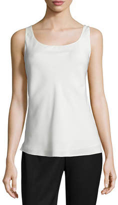 Lafayette 148 New York Charmeuse Silk Bias Tank, Plus Size