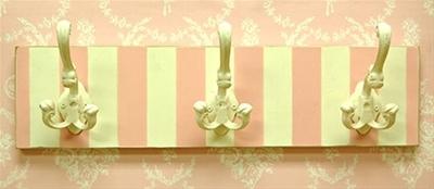 Pink Stripe Hook Rack