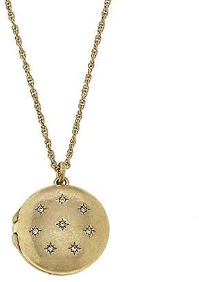 Canvas Womens Short Celestial Locket Necklace