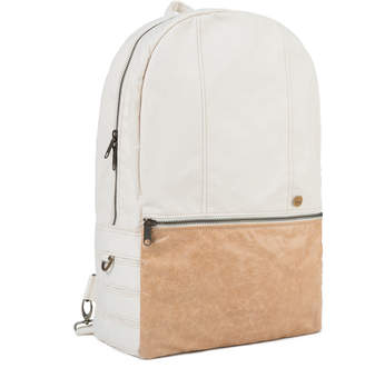Age Carriers Ivory Canvas Backpack