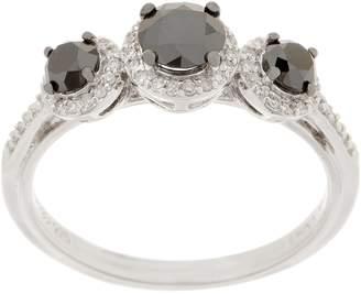 Black Diamond Affinity Diamond Jewelry Affinity Diamond Sterling Silver 3-Stone Ring