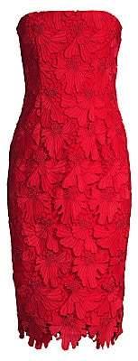 Black Halo Women's Barker Strapless Lace Sheath Dress